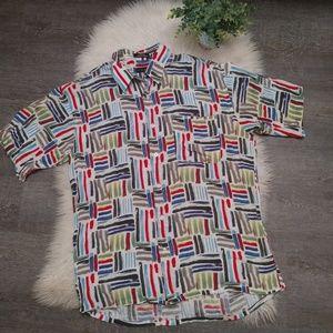 Riscatto Button Up Short Sleeve Shirt sz L
